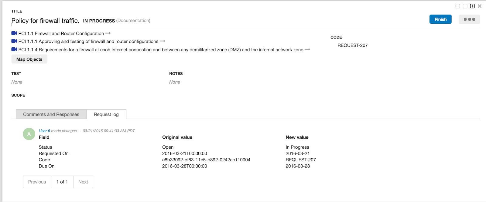 New ZenGRC Audit Log